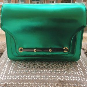 Vince Camuto, Cross-Body, Leather, Green Purse